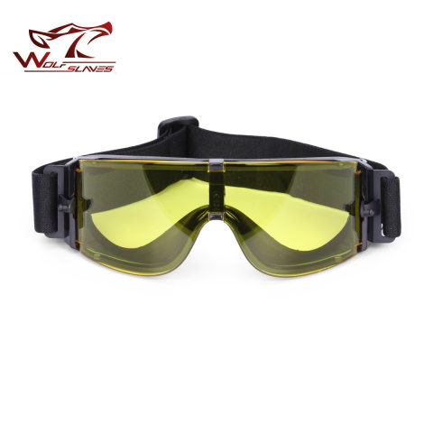 Outdoor tactical impact resistant protective glasses