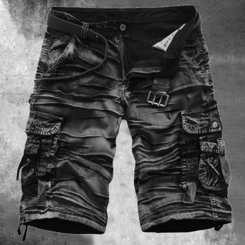 Mens Casual Workwear Five-point Shorts
