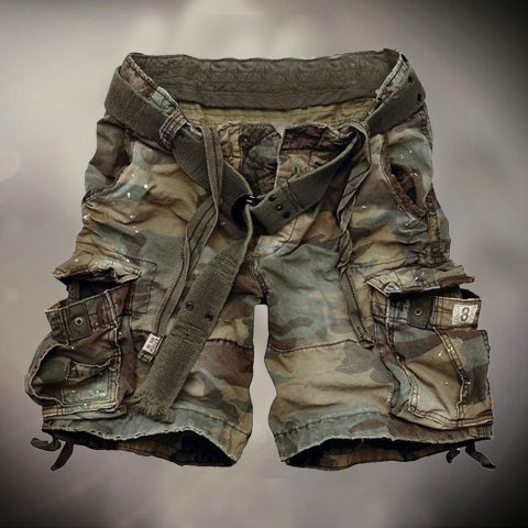 Mens Outdoor Camouflage Casual Shorts