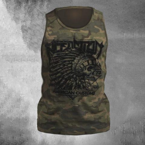 Mens Camouflage Skull Print Sleeveless Vest