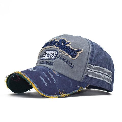 Fashion distressed 1969 baseball cap