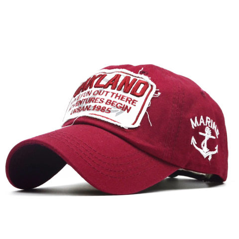 Outdoor OAKLAND letters embroidery baseball cap