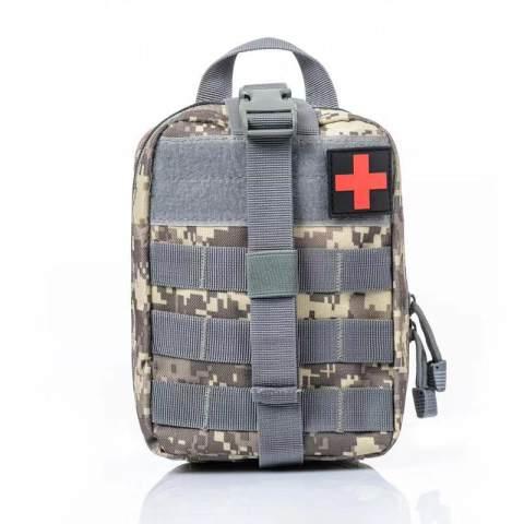 Outdoor emergency medical waist bag