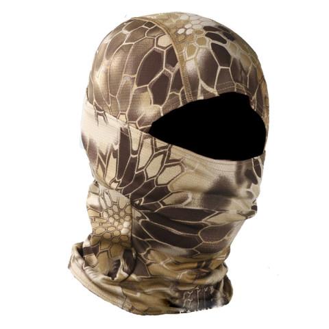 Python pattern tactical headgear mask outdoor sunscreen windproof sand camouflage warm rattlesnake ninja headscarf