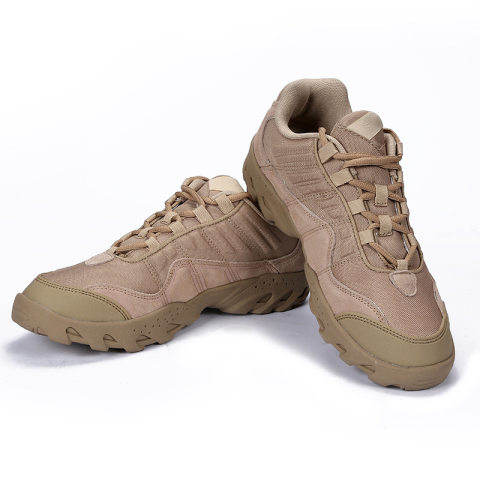 Solid color military hiking shoes outdoor sports wear-resistant low-cut military fan boots
