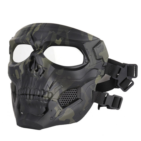 Skull Camouflage Tactical Full Face Mask Outdoor Riding Sand-proof Mask Personalized Dress Cs Tactical Protection