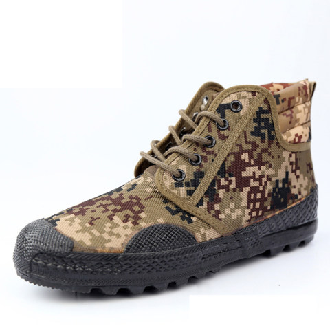 Specializing in the production and supply of Jiefang shoes high-top training shoes a914 training shoes non-slip camouflage outdoor shoes