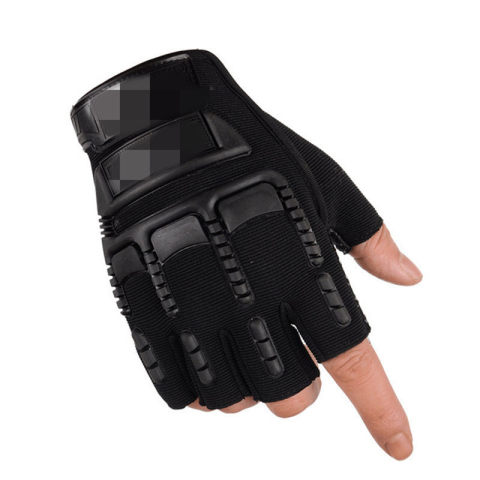 Outdoor sports breathable anti-knife cut half-finger gloves