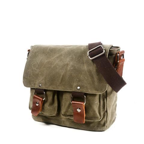 Mens Tactical Retro Waterproof Shoulder Bag Canvas Bag
