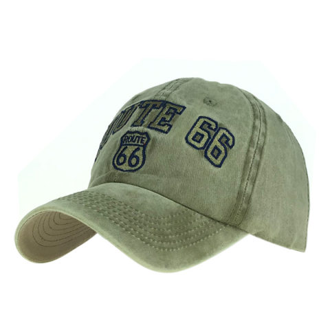 Men's and women's old washed 66 road embroidery baseball cap