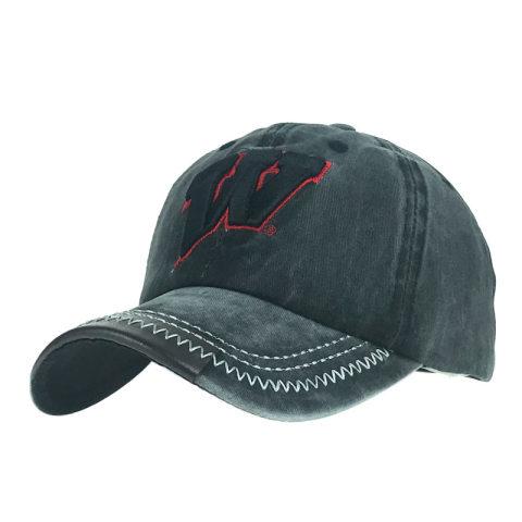 Men's and women's old w letter baseball caps