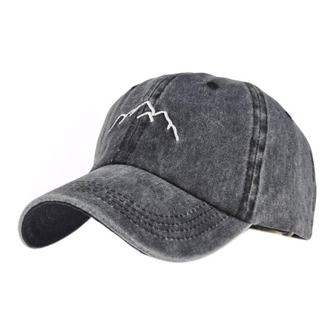 Mountain embroidery men's and women's baseball cap cap