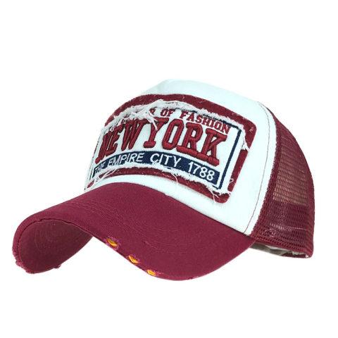 Fashion patch net cap baseball cap new york men and women