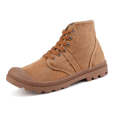 Mens Military Canvas Wear-Resistant Trekking Hiking Boots