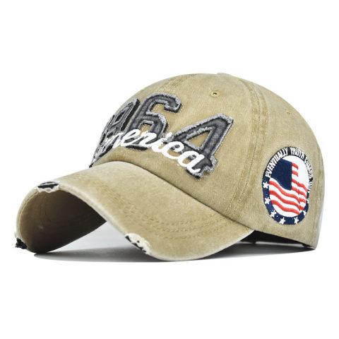 Mens outdoor 1964 embroidery America baseball cap