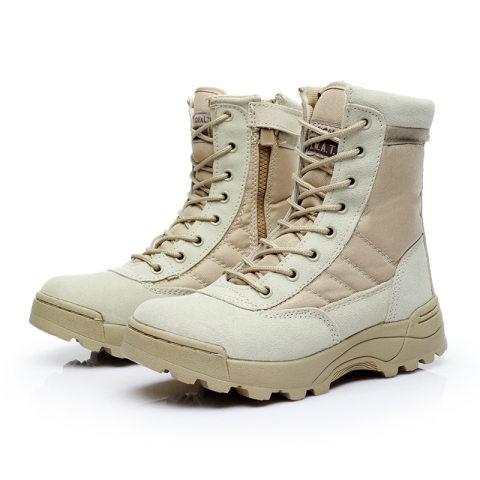 Outdoor outdoor mountaineering non-slip combat boots