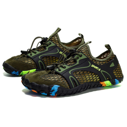 Men's outdoor five-finger beach diving swimming shoes wading shoes hiking shoes