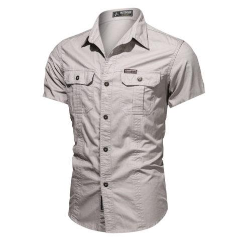 Tactical Outdoor Mens Shirt Stitching Printed Shirt