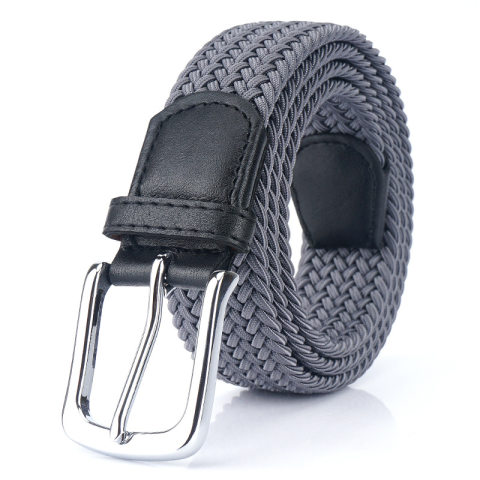 Canvas elastic belt men and women pin buckle canvas belt