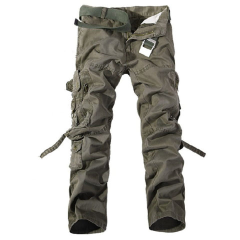 Mens Multi-pocket Casual Trousers