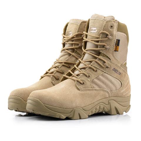 War boots desert warm hiking mens shoes