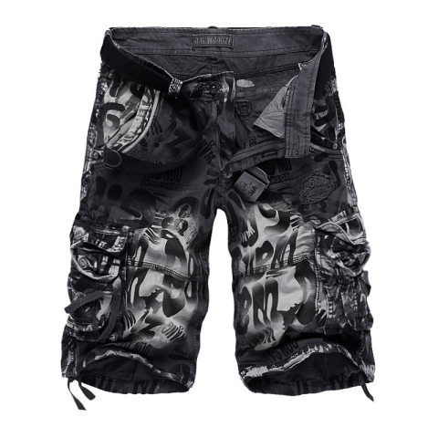 Mens outdoor tear-resistant camouflage shorts