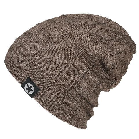 Men's outdoor hedging pile hat woolen hat plus velvet knitted hat