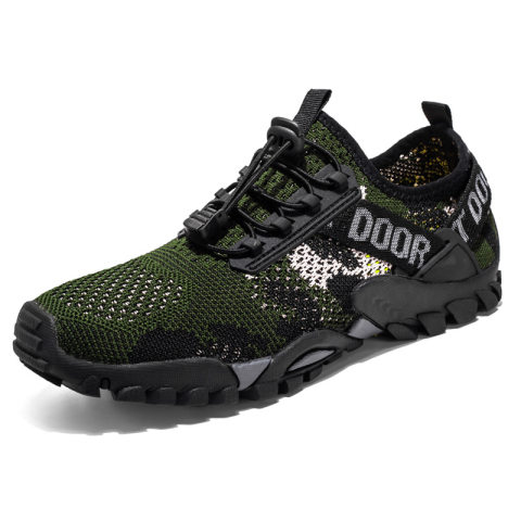 Cross-border men's large size outdoor hiking shoes breathable men's sports upstream shoes beach water shoes cold sticky flying woven 9322