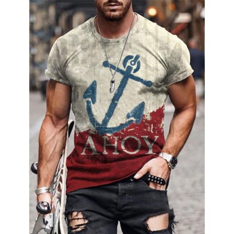 Designer Anchor Print T-shirt