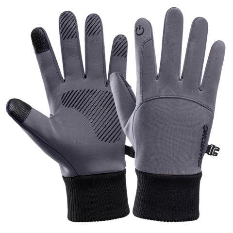 Outdoor waterproof and velvet warm gloves