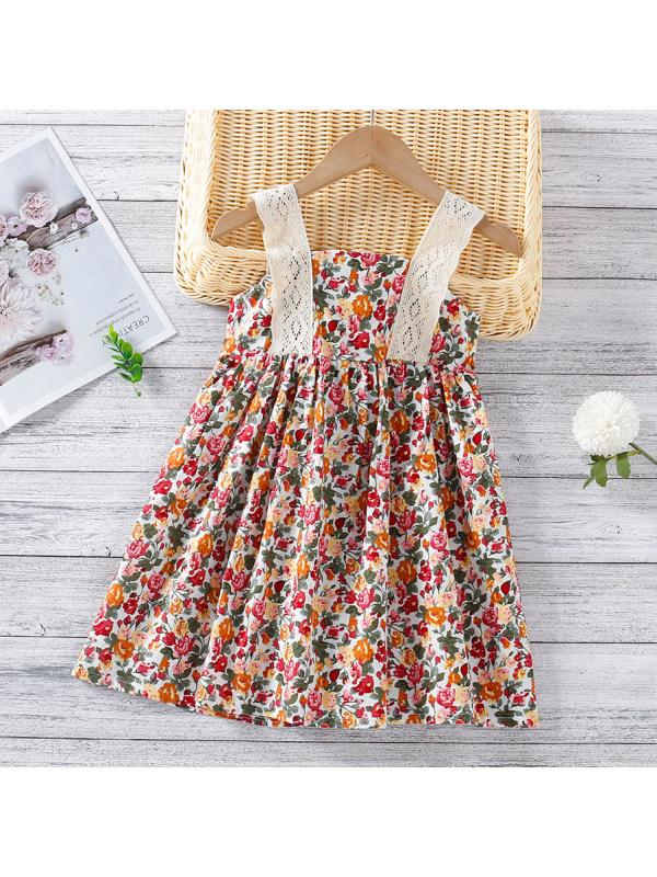 【12M-5Y】Sweet Flower Print Short Dress
