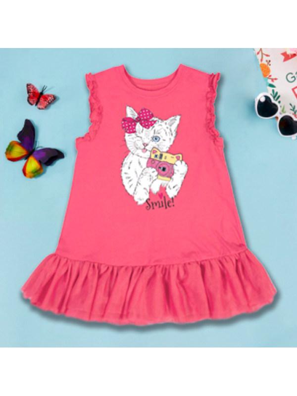 【18M-9Y】Cute Cartoon Print Round Neck Sleeveless Dress