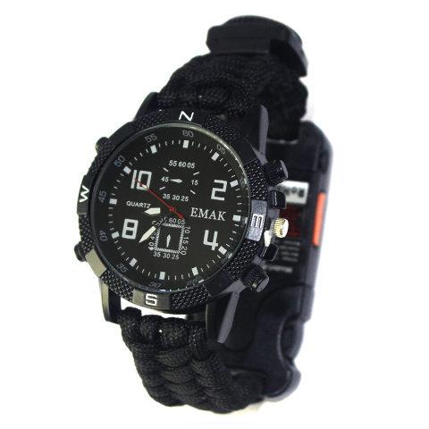 Compass Waterproof Multifunctional Survival Watch