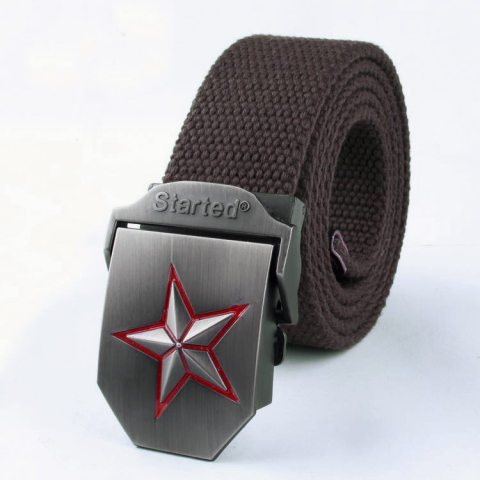 Outdoor tactical canvas belt