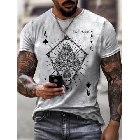 Mens Fashion Street Style Printed T-shirt