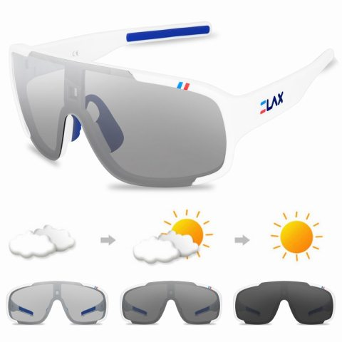 Color changing polarized outdoor sports glasses