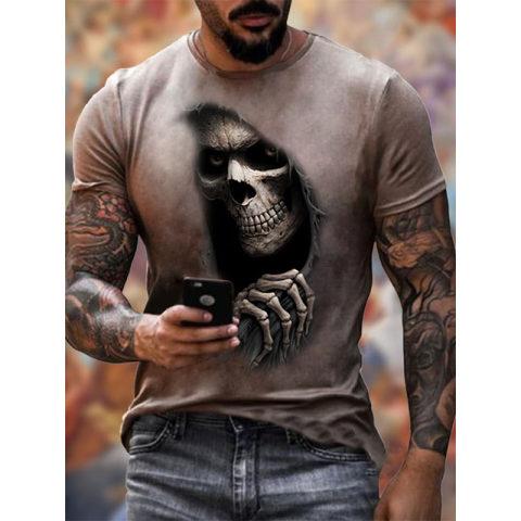 Mens Skull Print Cozy T-shirt