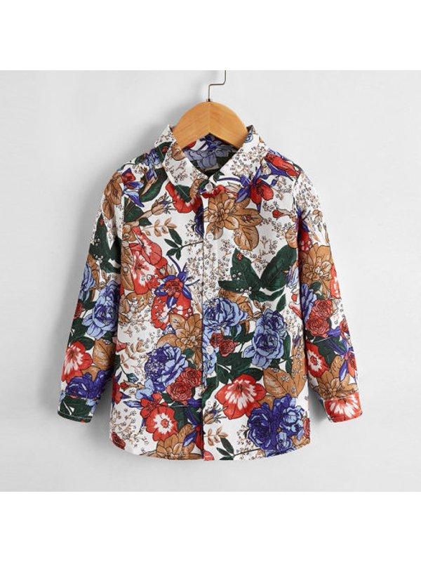 【12M-5Y】Boys Printed Long-sleeved Shirt