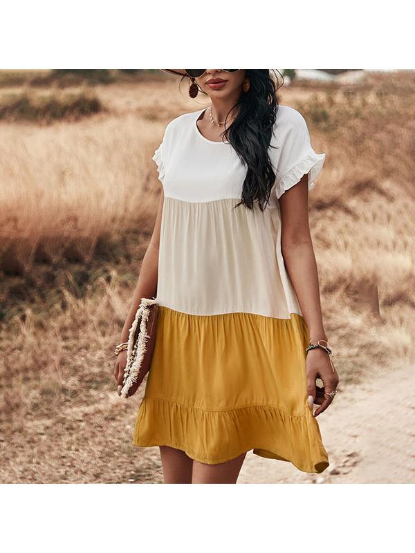 Fashion Casual Short Sleeve Bohemian Vacation Dress