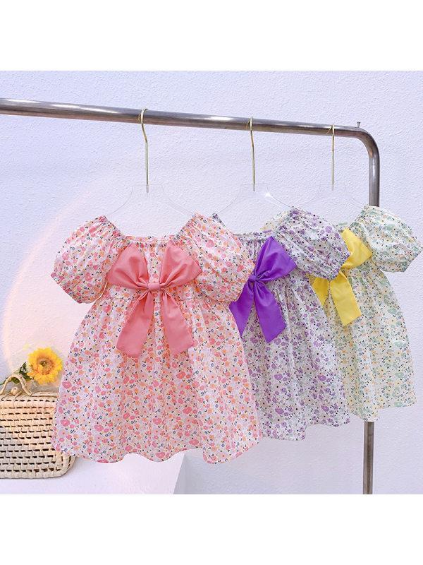 【18M-7Y】Sweet Bow Flower Dress