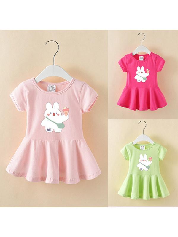 【9M-7Y】Girls Cartoon Print Dress