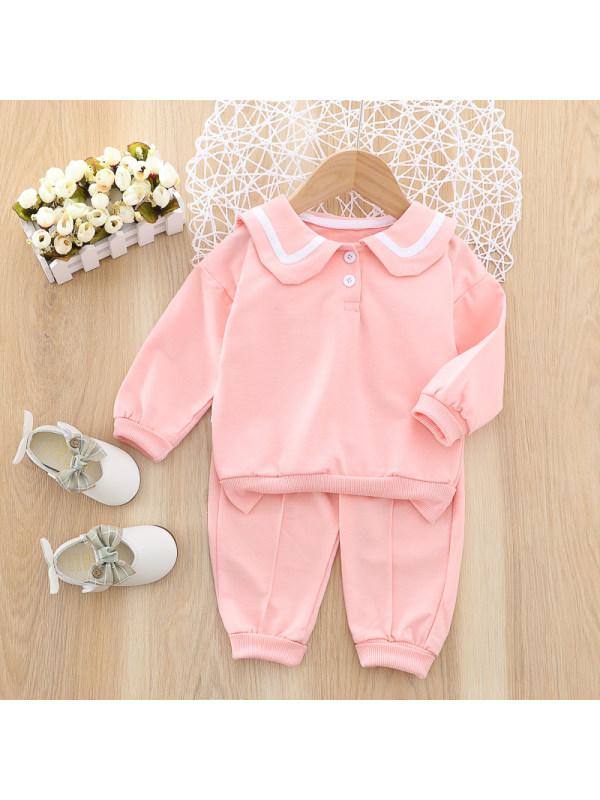 【12M-4Y】Girl Sweet Sweatshirt Pants Set
