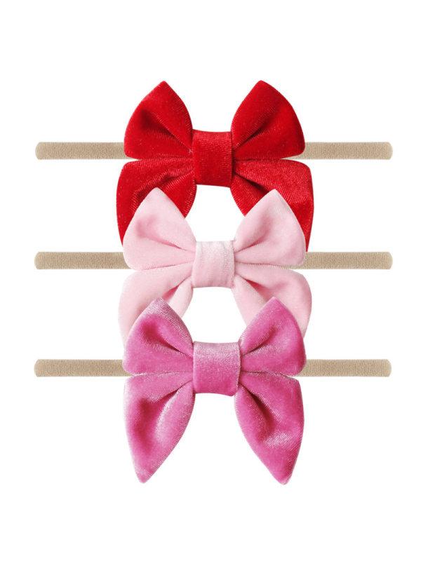 Girls Fashion Velvet Bow Headband