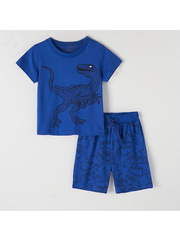 【18M-9Y】Boys Dinosaur Print Casual Suit