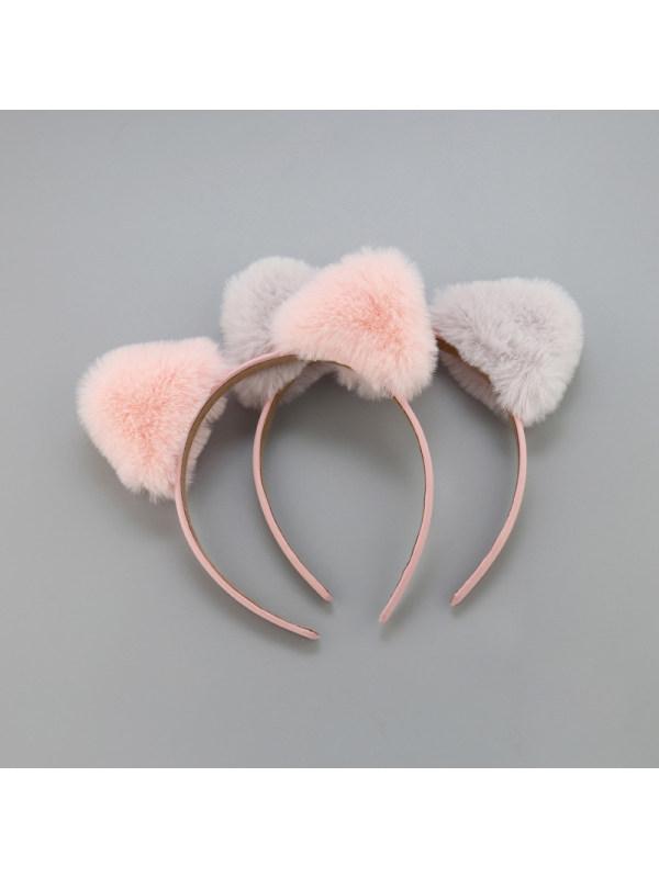 Girls Cute Furball Cat Ears Headbands Girls Hair Accessories