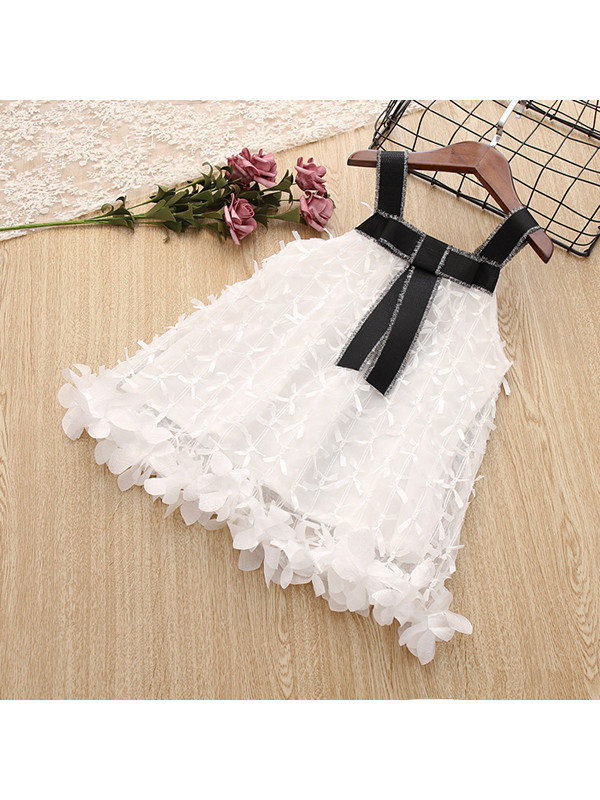 【12M-5Y】Girls Sling Lace Bow Sleeveless A-line Dress