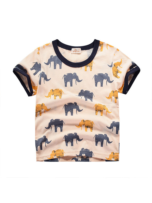 【18M-9Y】Boys' Personality Printed Short-sleeved T-shirt