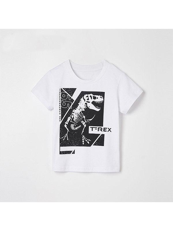 【2Y-9Y】Boys Cartoon Print Short Sleeve T-shirt