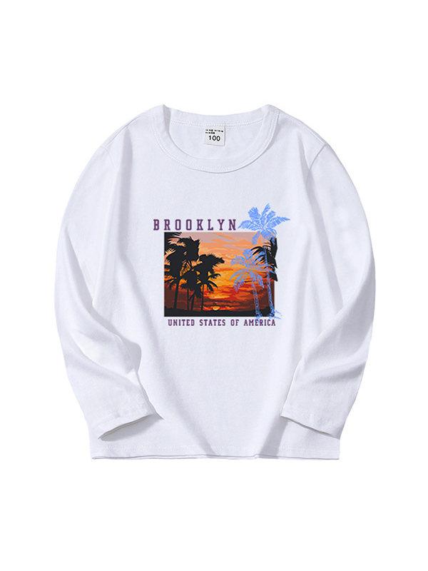 【3Y-15Y】Boys Print Long Sleeve T-shirt