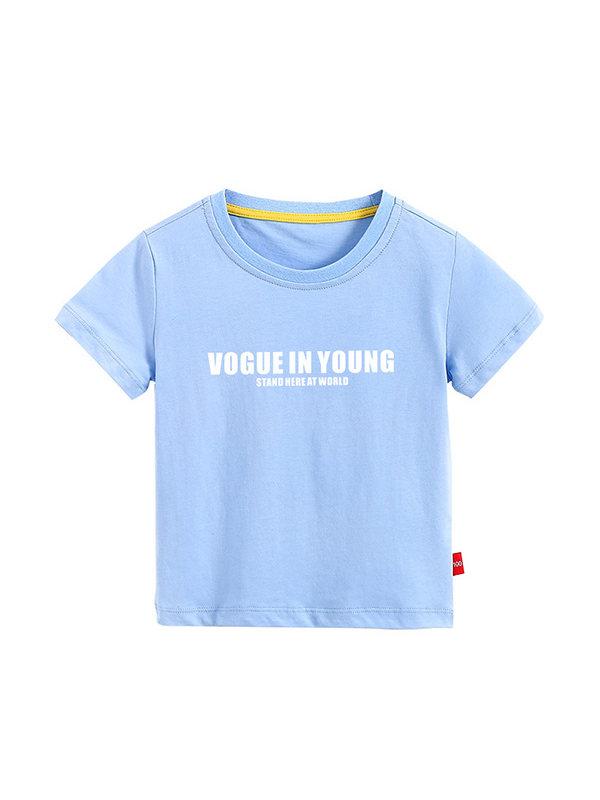 【3Y-11Y】Boys Printed Letters Trend Short-sleeved T-shirt